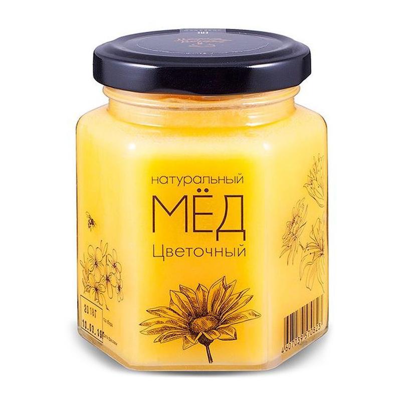 Мед натуральный Медовые вечера Цветочный 500 г мед дикий мед башкирский цветок цветочный 600 г