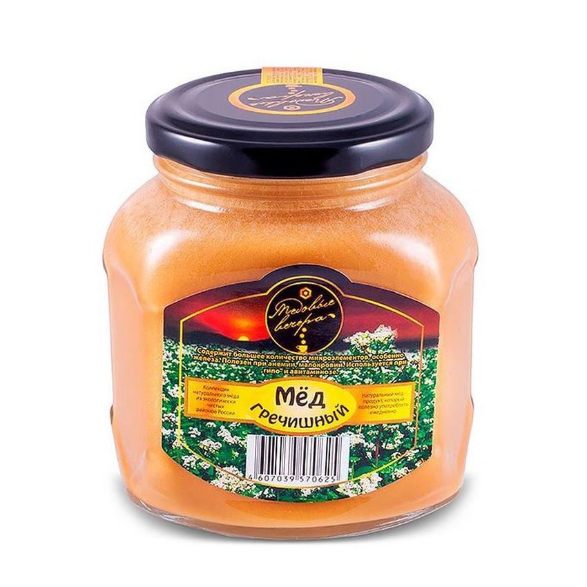 Мед натуральный Медовые вечера Гречишный 500 г луговица мед натуральный гречишный 250 г