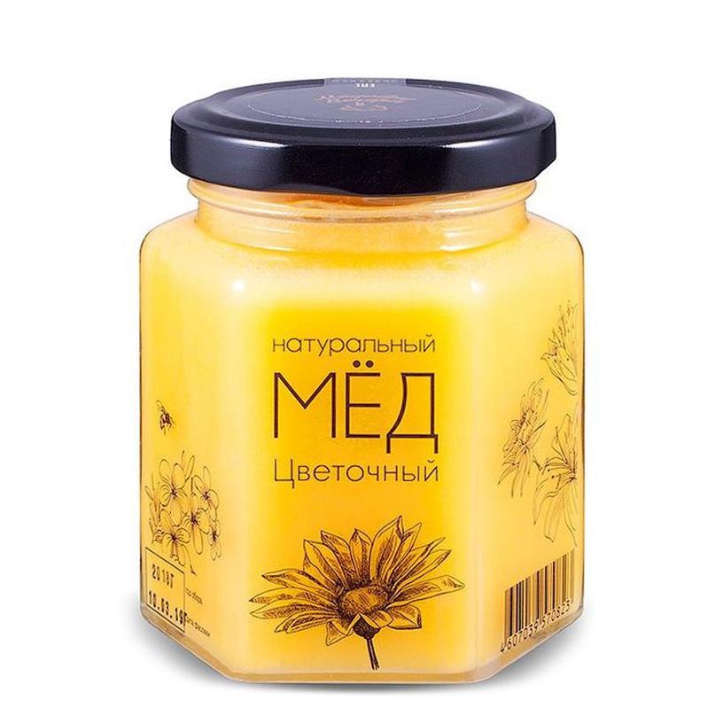 Мед натуральный Медовые вечера Цветочный 250 г мед дикий мед башкирский цветок цветочный 600 г