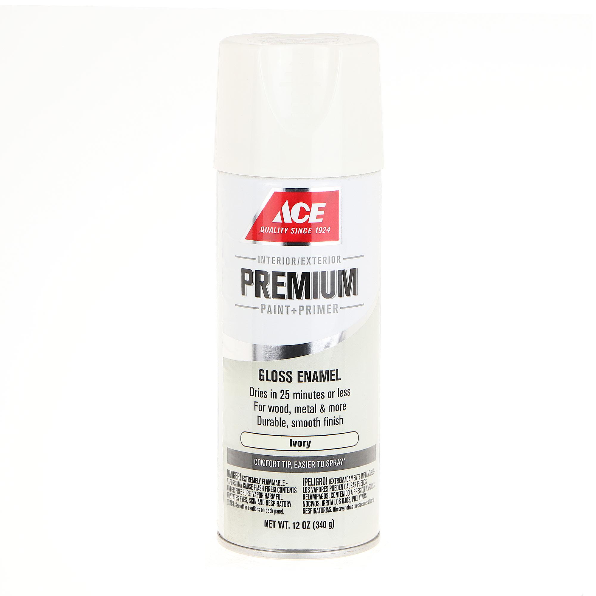 Краска аэрозольная Ace Hardware Premium Ivory Gloss 0,355 л