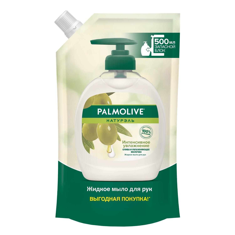 Жидкое мыло Palmolive Натурэль Интенсивное Увлажнение Олива и увлажняющее молочко 500 мл фото