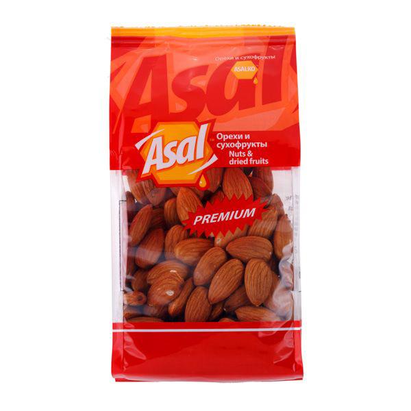 Миндаль Asal Premium очищенный 400 г кешью asal premium очищенный 150 г