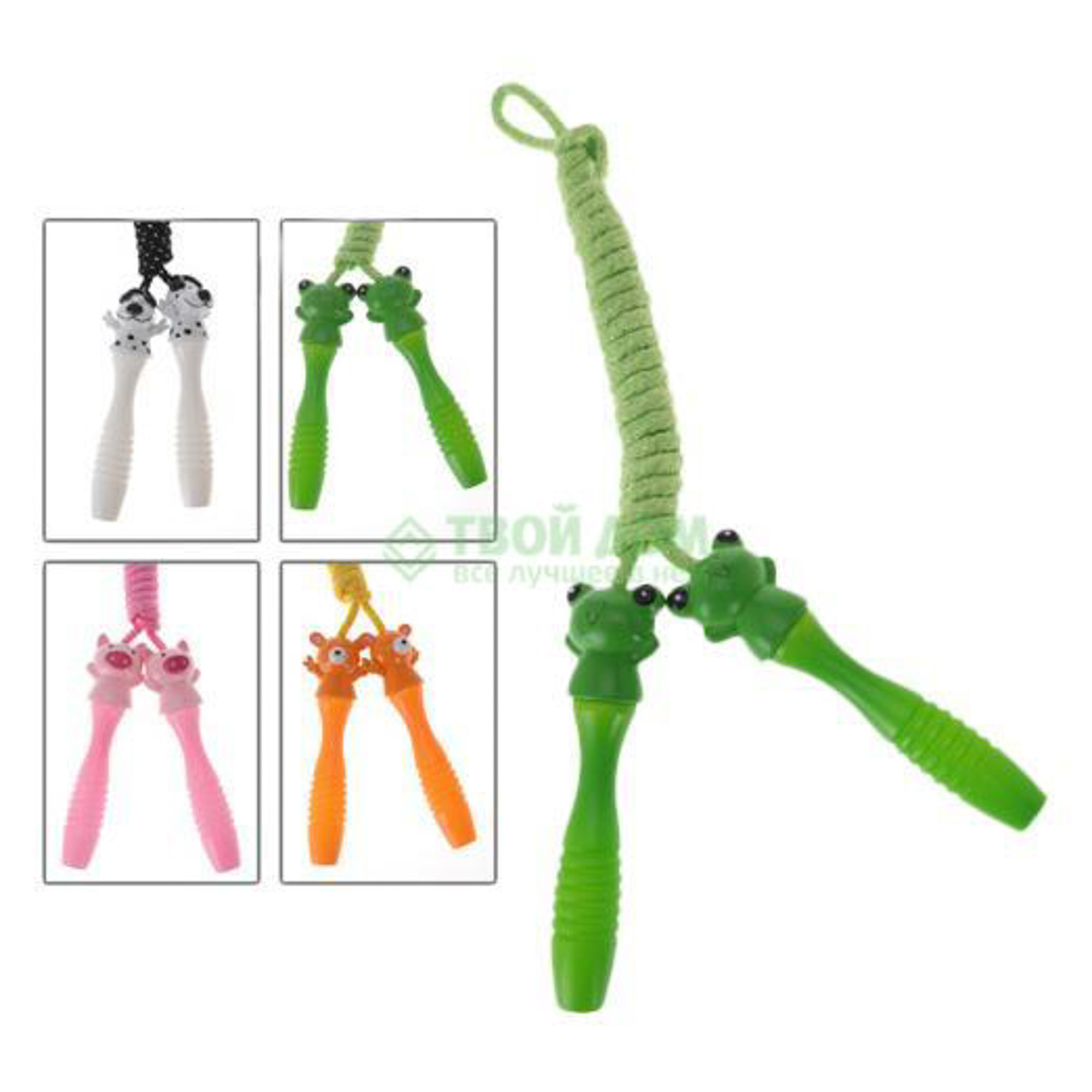 Купить Скакалка 210 см Koopman NY (W17280290), Китай, розовый, зелёный, белый, оранжевый, пластик, Настольные игры