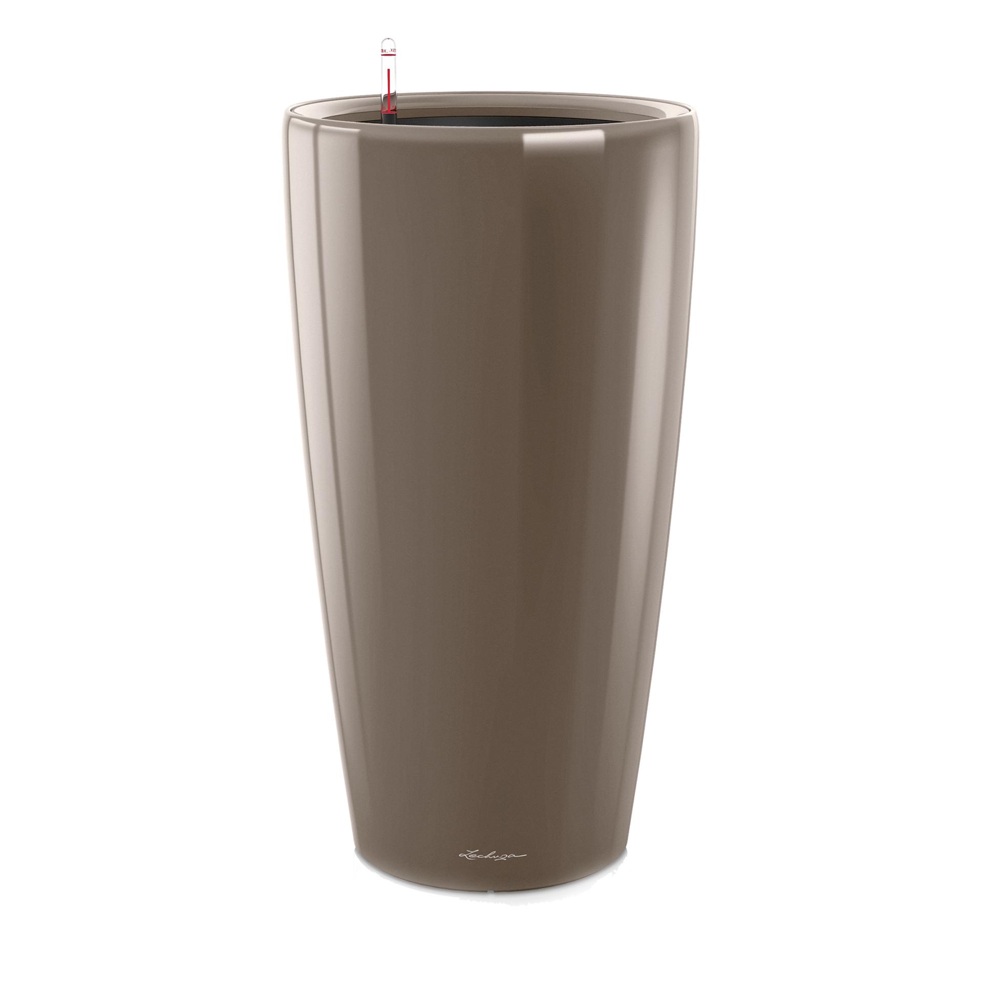 Кашпо Lechuza Rondo 40 см серо-коричневое с автополивом (15744) кашпо кубико альто 40 серебряное с автополивом 40х40х105см 18238 lechuza