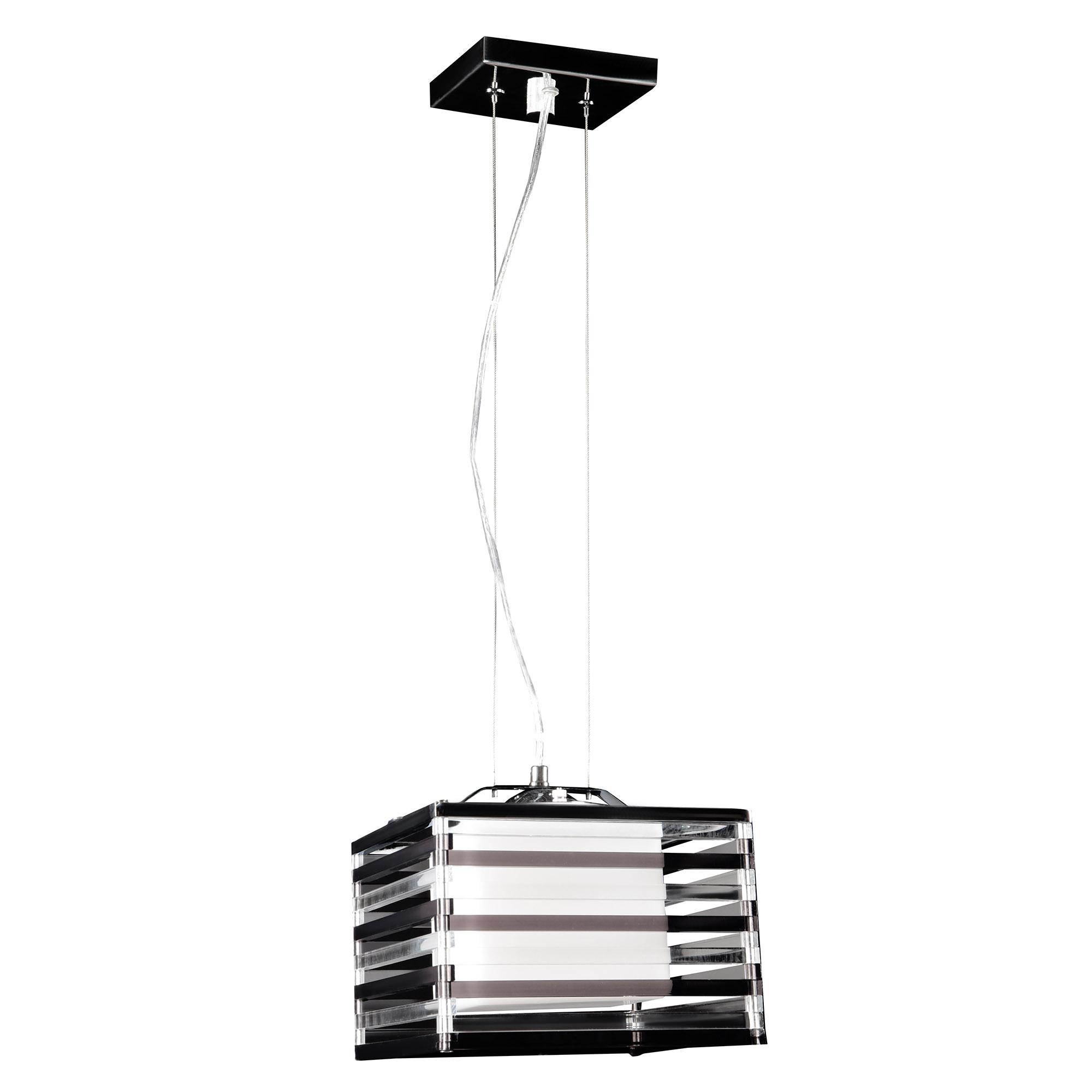 Купить со скидкой Светильник подвесной черный/белый акрил  квадрат Cosma lighting