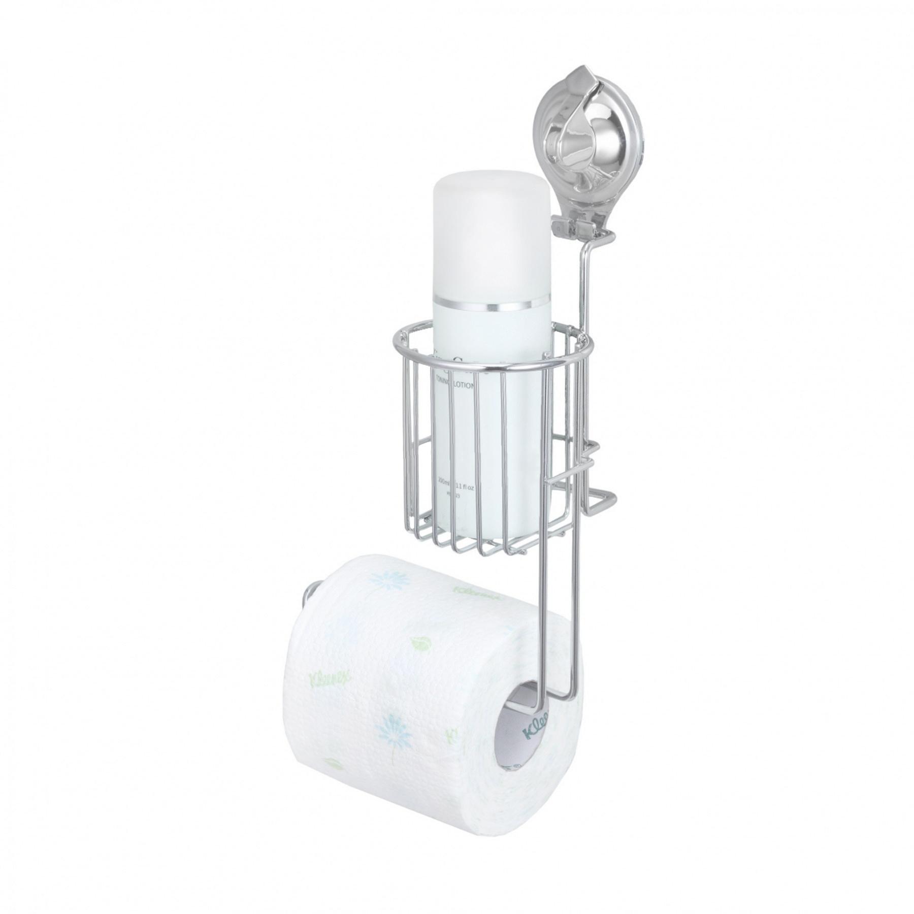 Держатель для туалетной бумаги и освежителя воздуха на присоске Fora Triumf Т045.