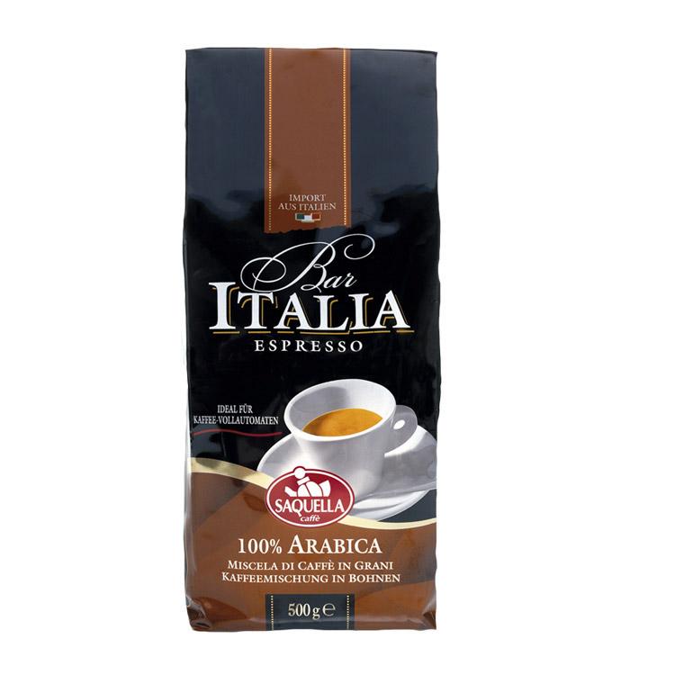 Кофе в зернах Saquella Bar Italia Arabica 500 г