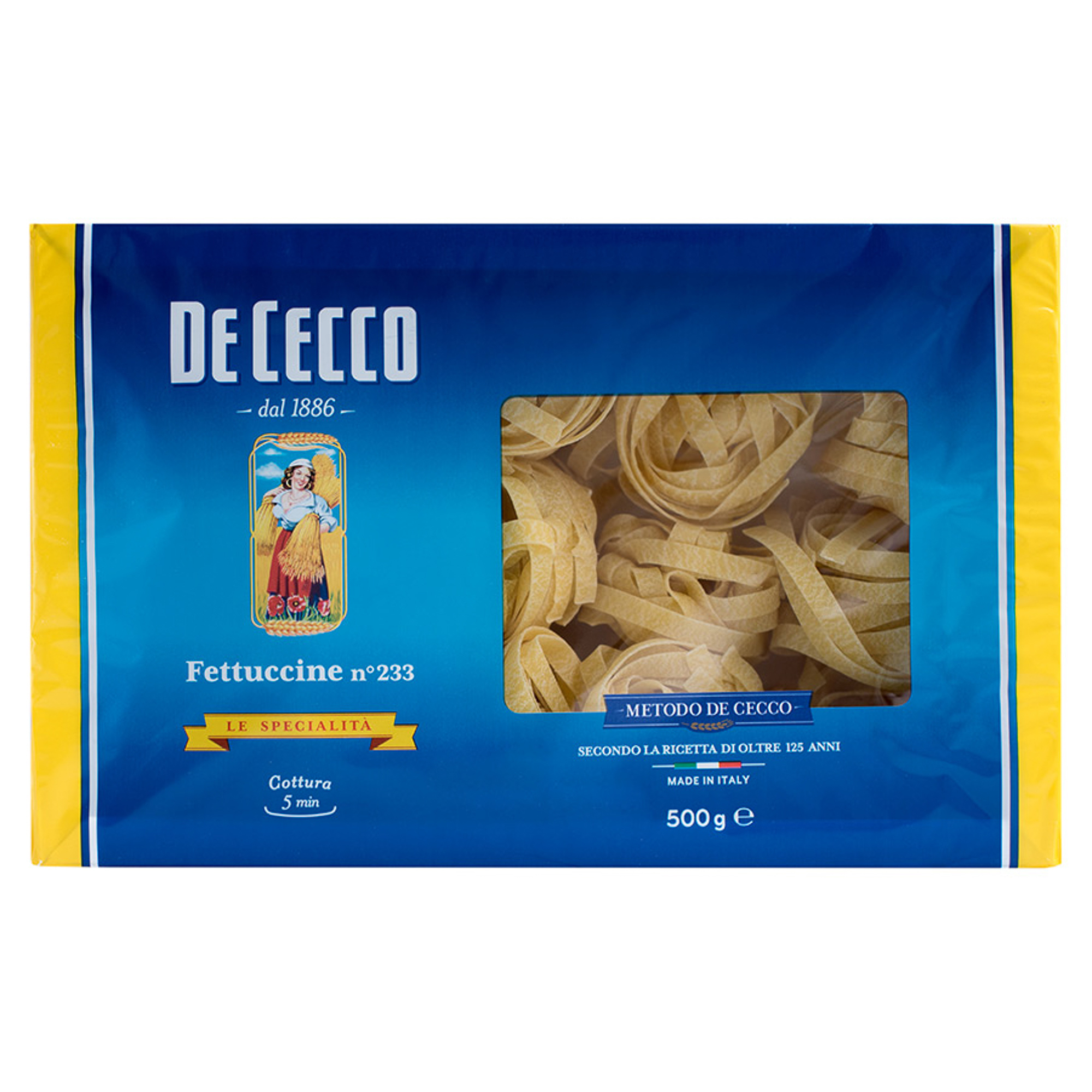Макаронные изделия De Cecco Феттуччини №233 500 г макароны de cecco rigate tricolore 500 г
