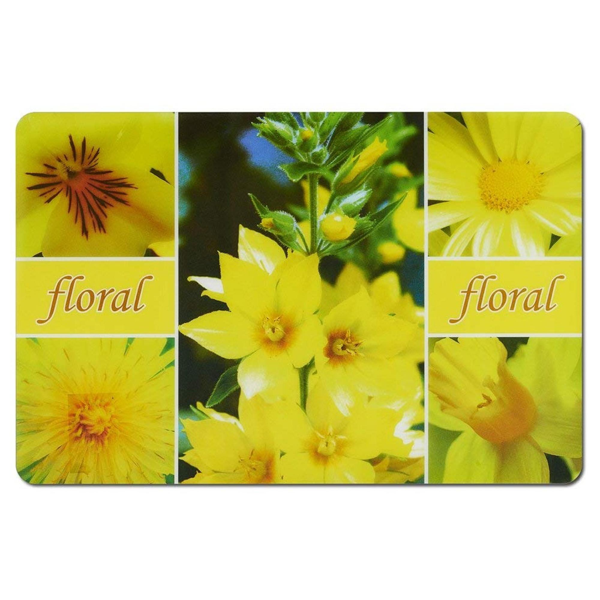 Фото - подставка под горячее 43,5х28,5 см желтые цветы Zeller подставка под горячее zeller 35 см серый