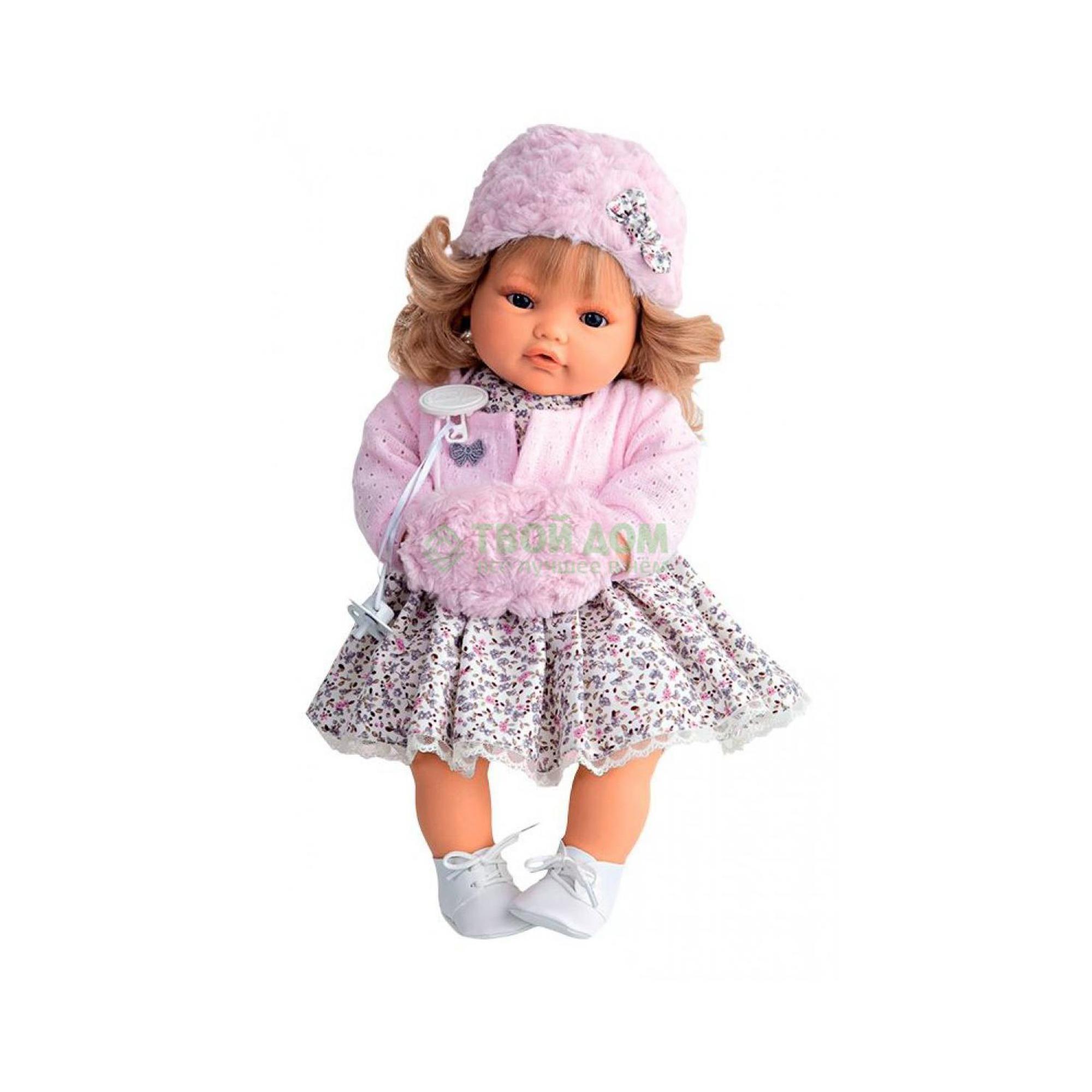 Кукла Munecas Кукла белла в роз плач 42 см