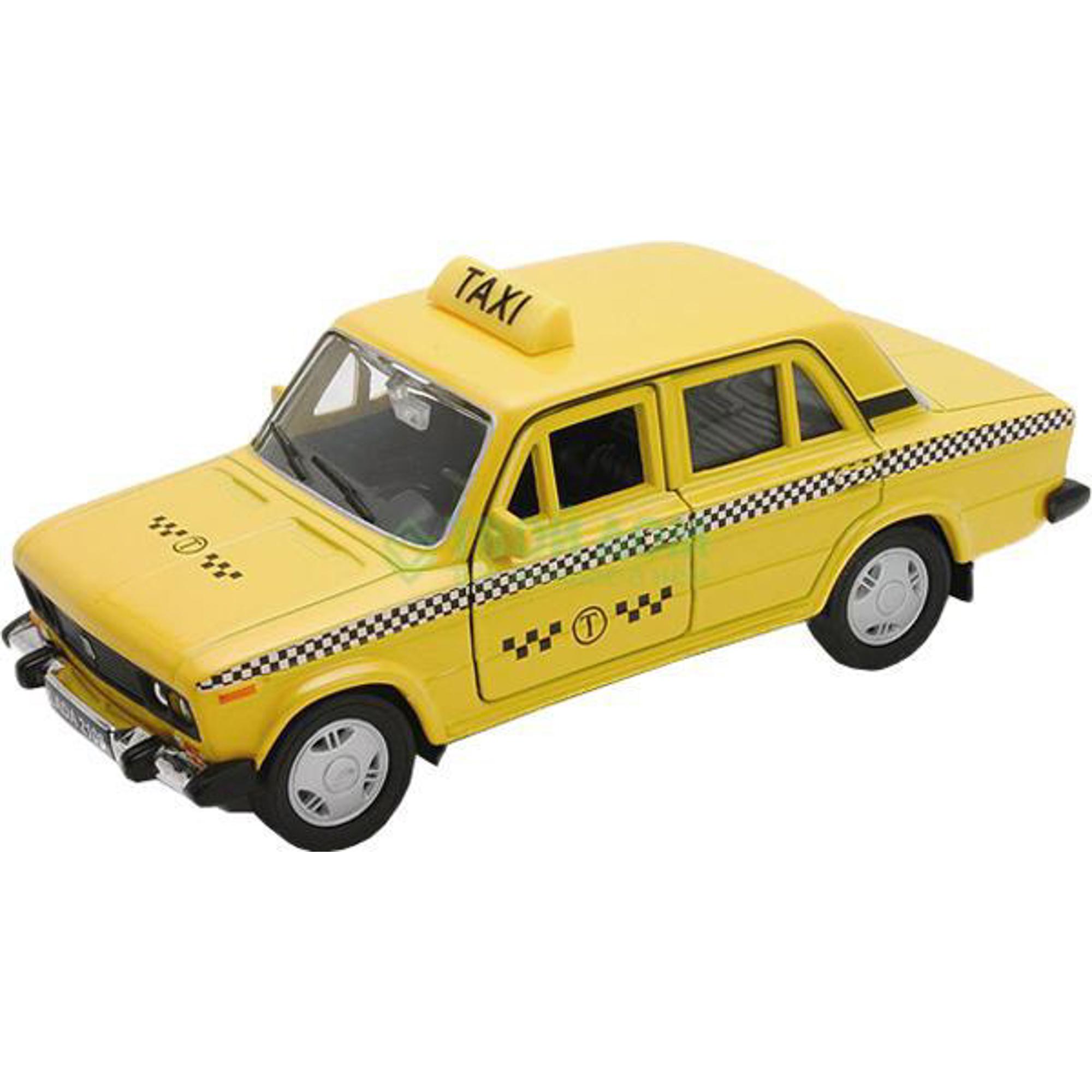 Машинка Welly Lada 2107 Такси Yellow (43644TI).