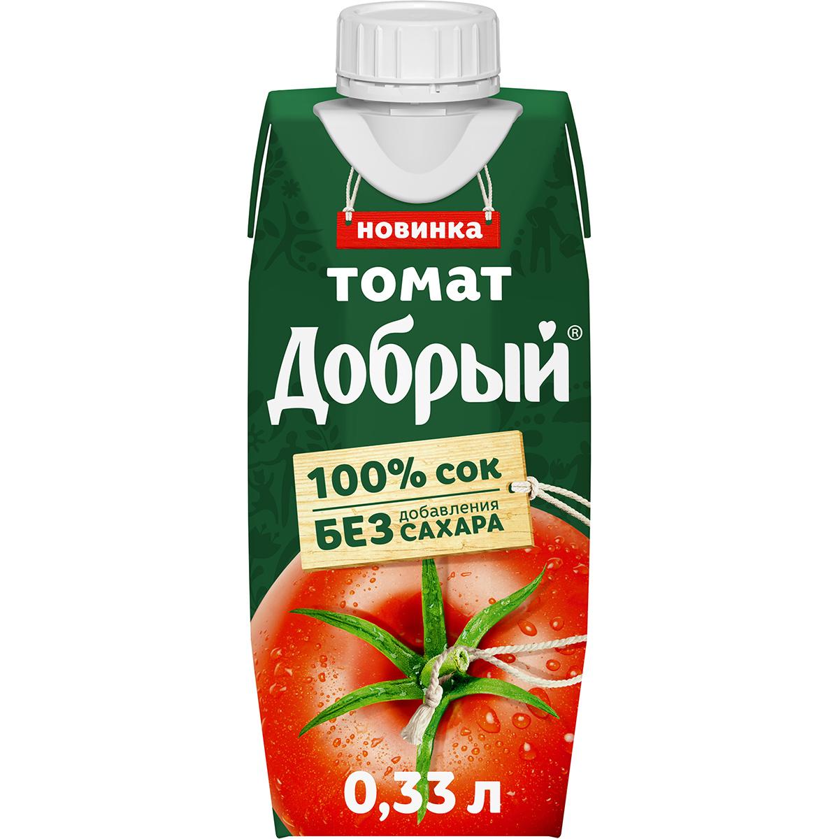 Фото - Сок Добрый томатный с мякотью 330 мл сок томатный j7 тонус 900 мл