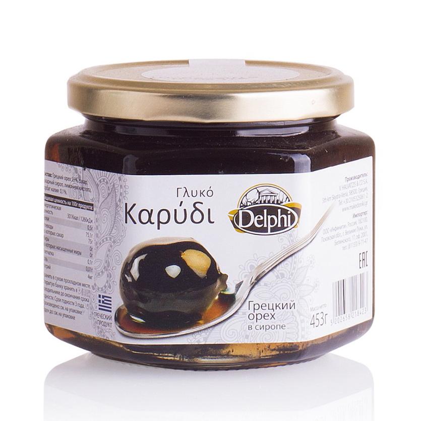 Грецкий орех Delphi в сиропе 453 г грецкий орех просто азбука натуральный 150 г