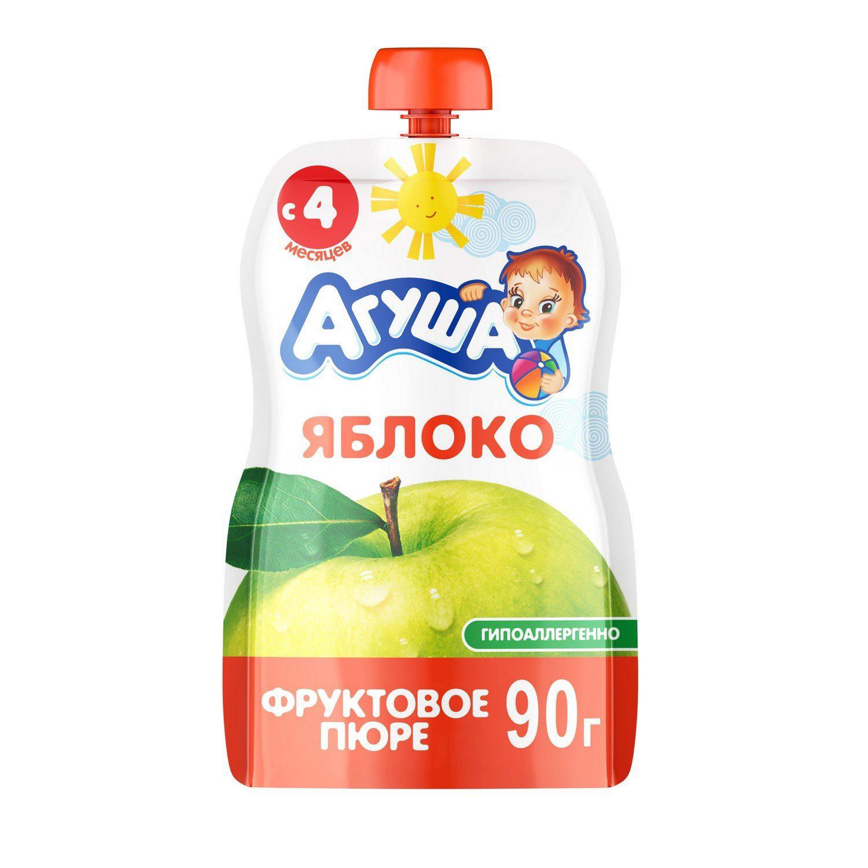 Фото - Пюре фруктовое Агуша Яблоко 90 г пюре фруктовое агуша груша 200 г