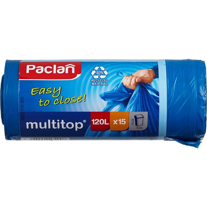 Мешки для мусора Paclan Multitop 120 л 15 шт.