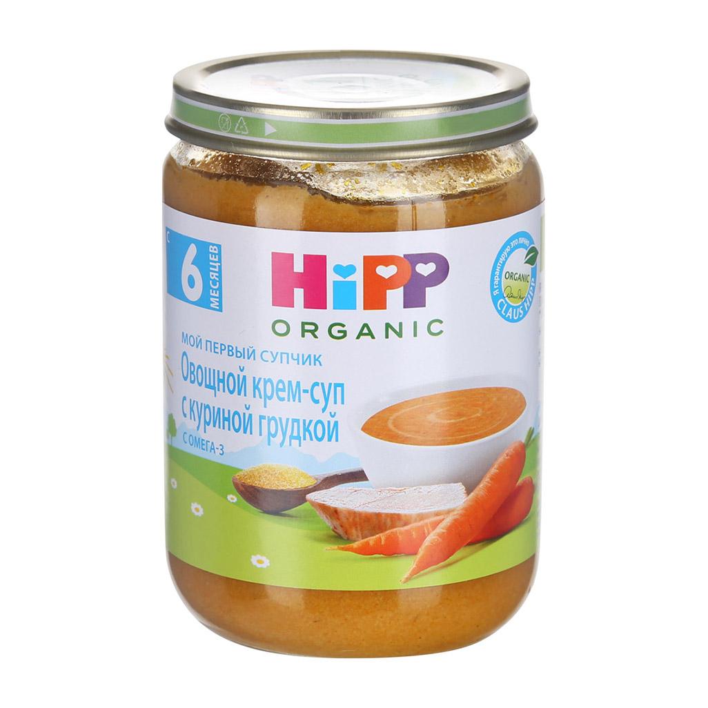 Крем-суп HiPP овощной с куриной грудкой 190 г