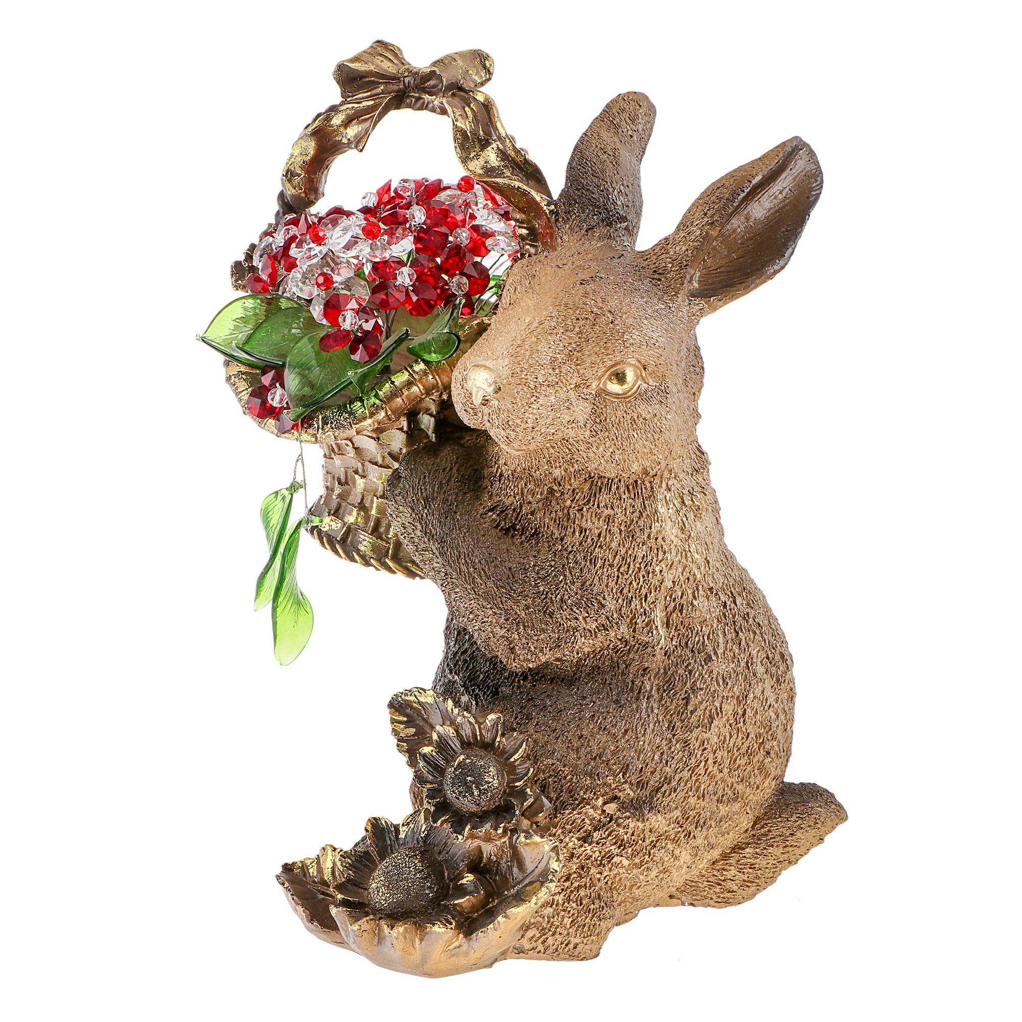 Фигура Decor trade unic кролик с цветами