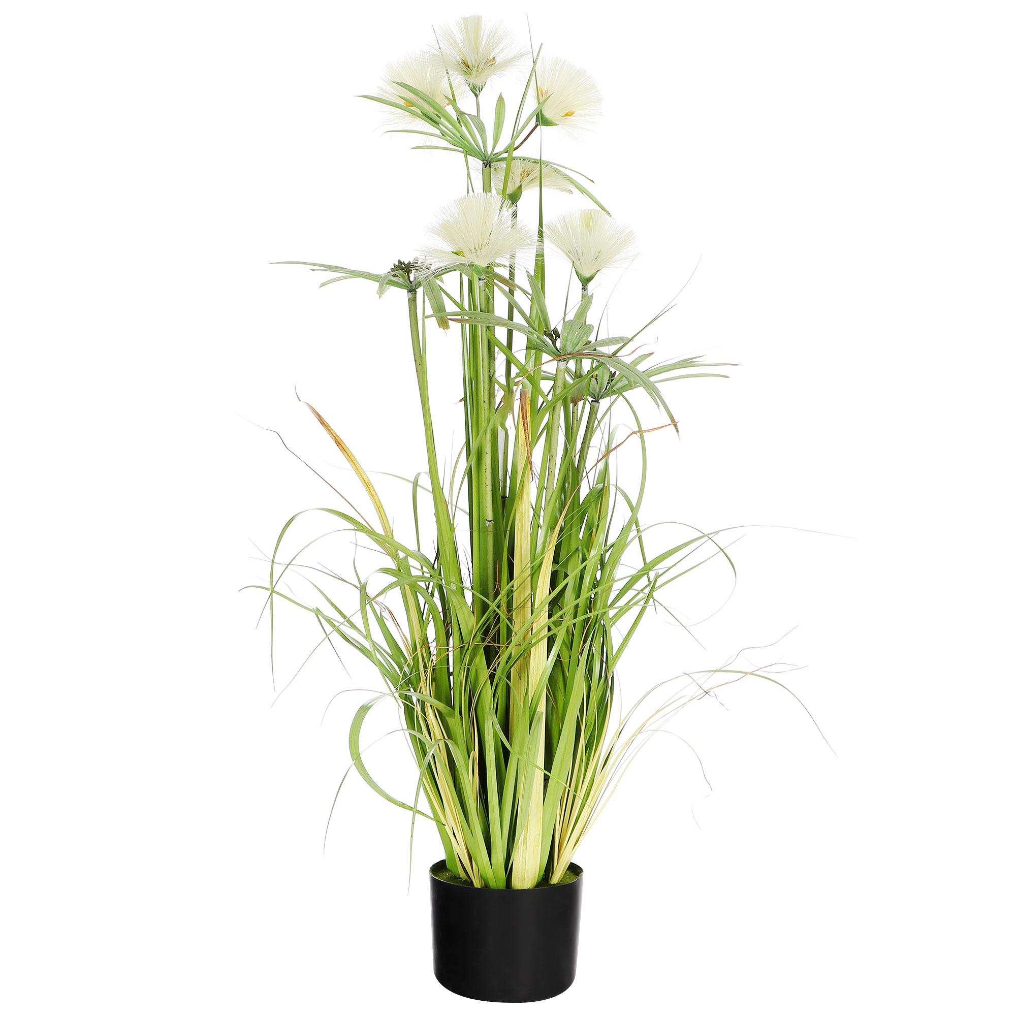 Цветок искусственный Shandong hr arts Папирус в горшке 91 см
