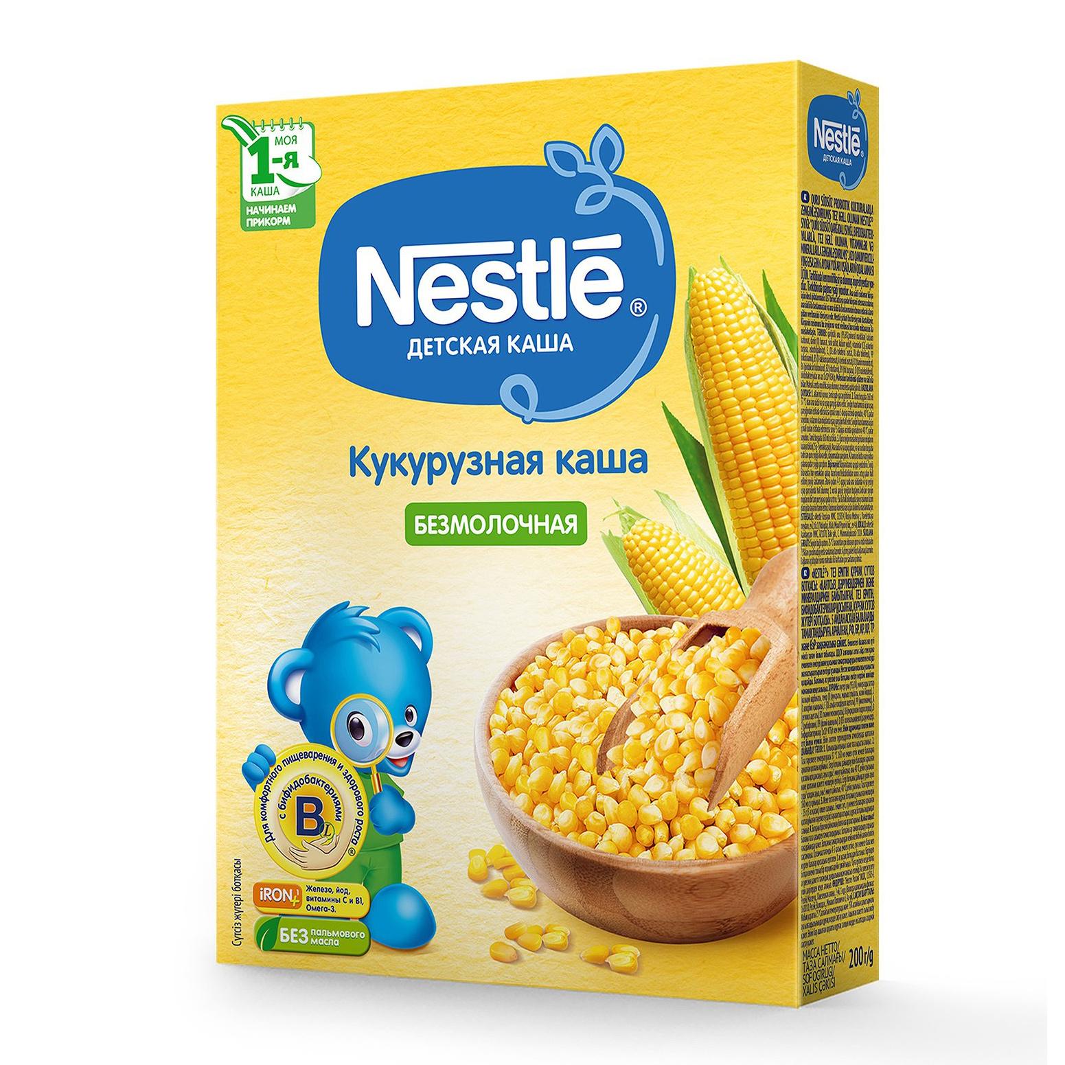 Каша Nestle кукурузная с 5-ти месяцев 200 г hipp каша зерновая кукурузная с 5 месяцев 200 г