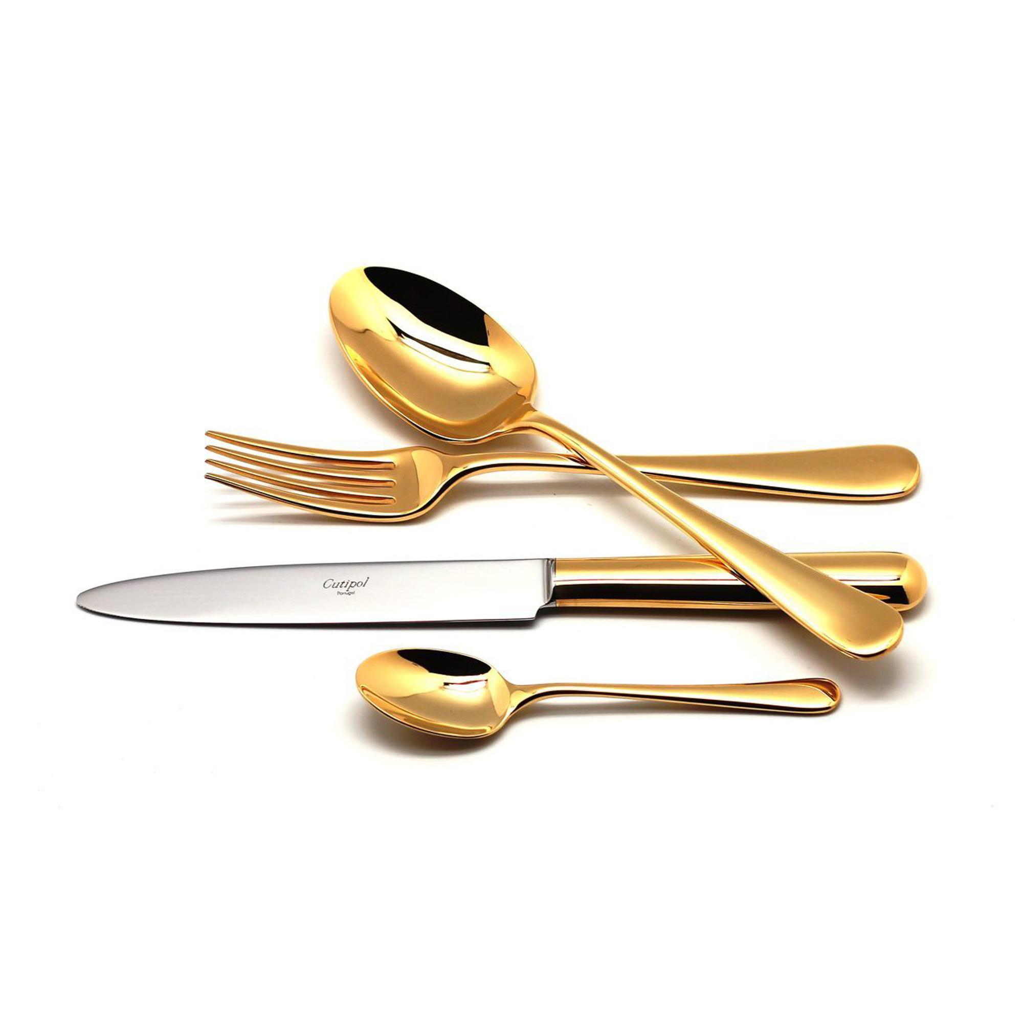 Столовый набор Cutipol ATLANTICO GOLD 9201-72 72 предмета набор столовых приборов cutipol fontainebleau gold из 72 х предметов 9162 72