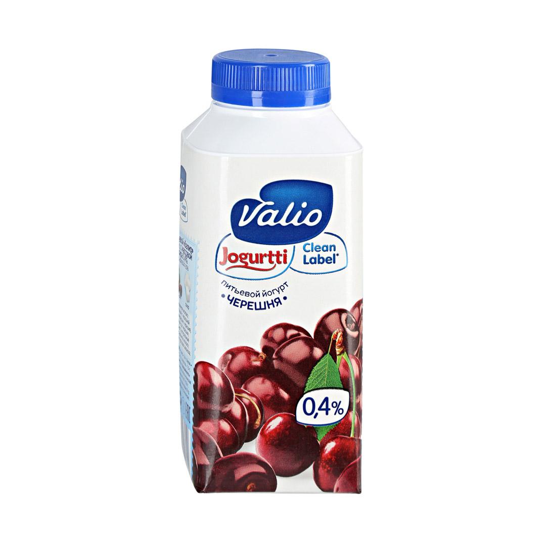 Фото - Питьевой йогурт Valio Clean Label с черешней 0,4% 330 г йогурт valio clean label малибу