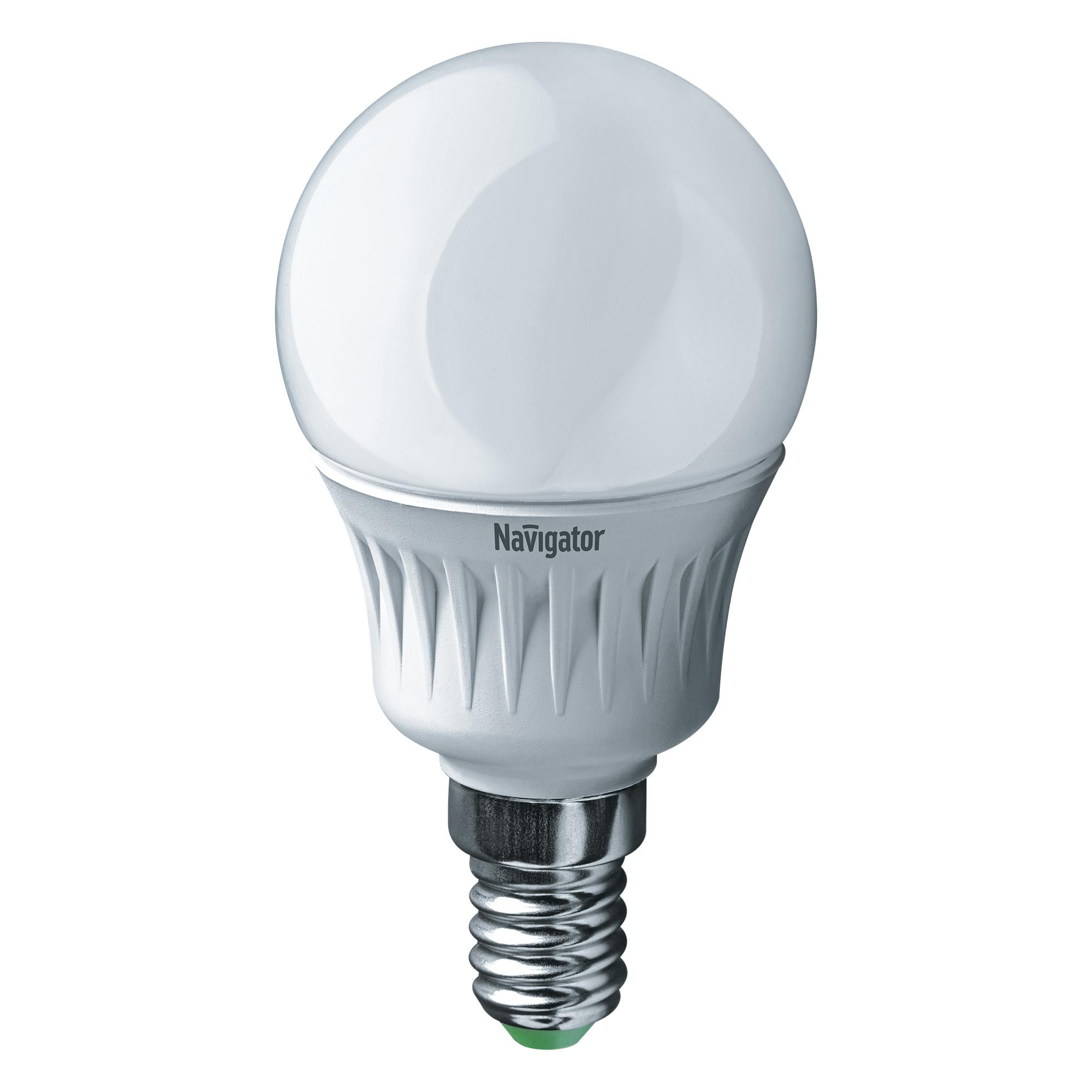 Фото - Лампа светодиодная Navigator матовая 5Вт цоколь E14 (холодный свет) лампа люминесцентная navigator t5 6вт цоколь g5 холодный свет