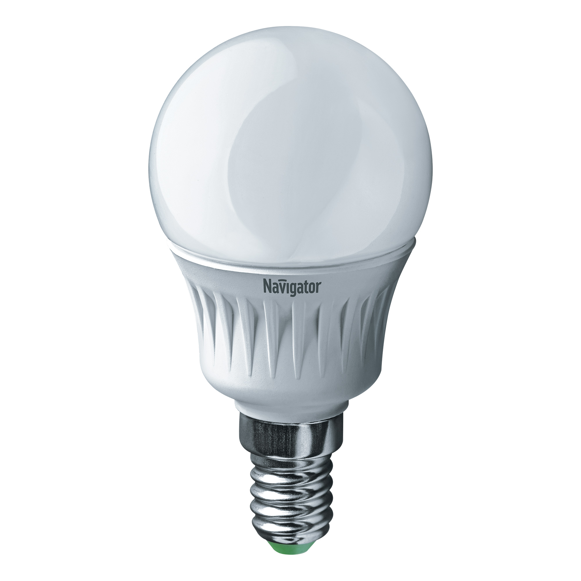 Лампа светодиодная Navigator шарик матовая 7Вт цоколь E14 (теплый свет) фото