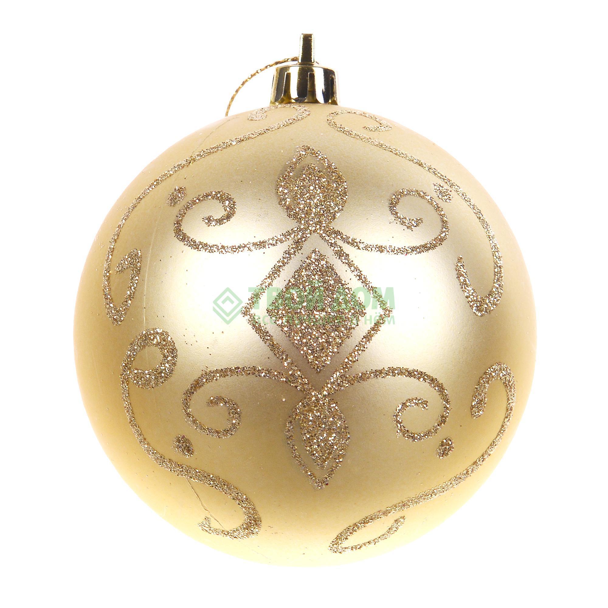Набор шаров Goodwill Золотистый 15см (TR 10342), Золотой