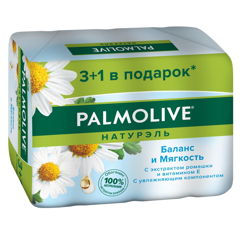 Фото - Мыло Palmolive Натурэль Баланс и мягкость с экстрактом ромашки и витамином Е 4x90 г мыло palmolive баланс и мягкость ромашка и витамин е 4 шт 90 г