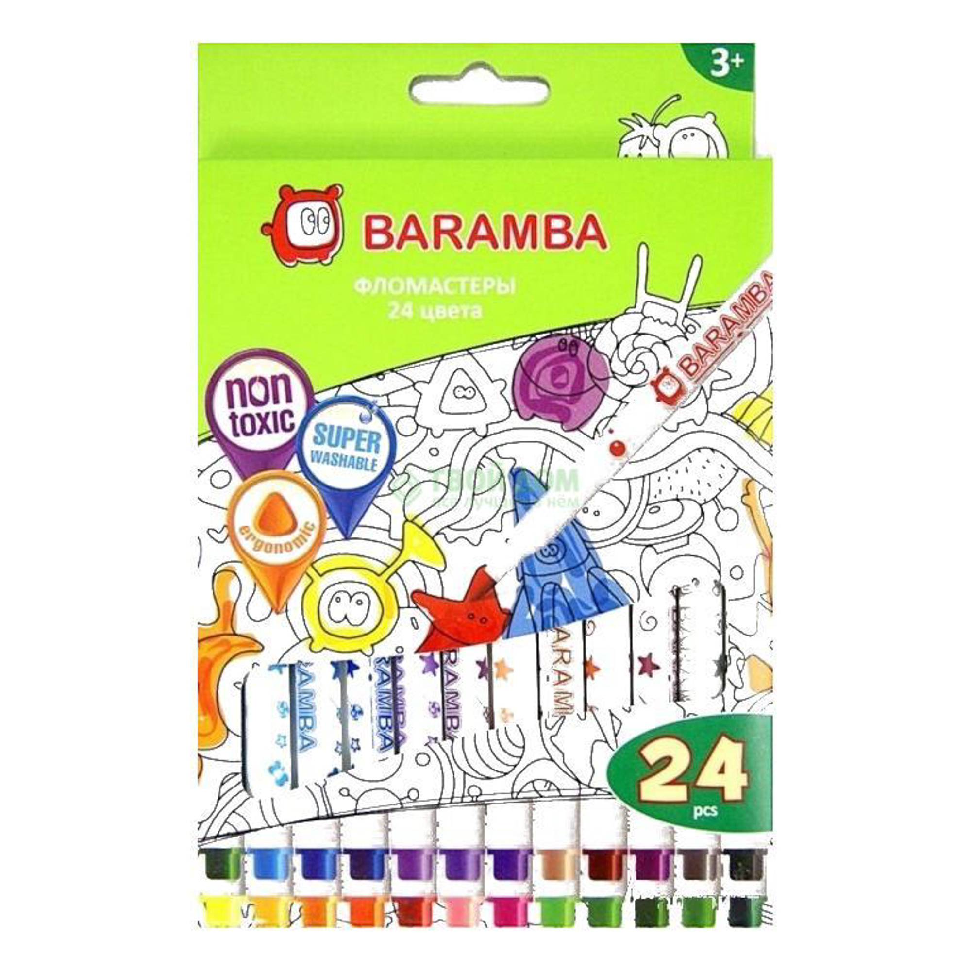 Baramba Фломастеры на водной основе 24цв (B80724) фото