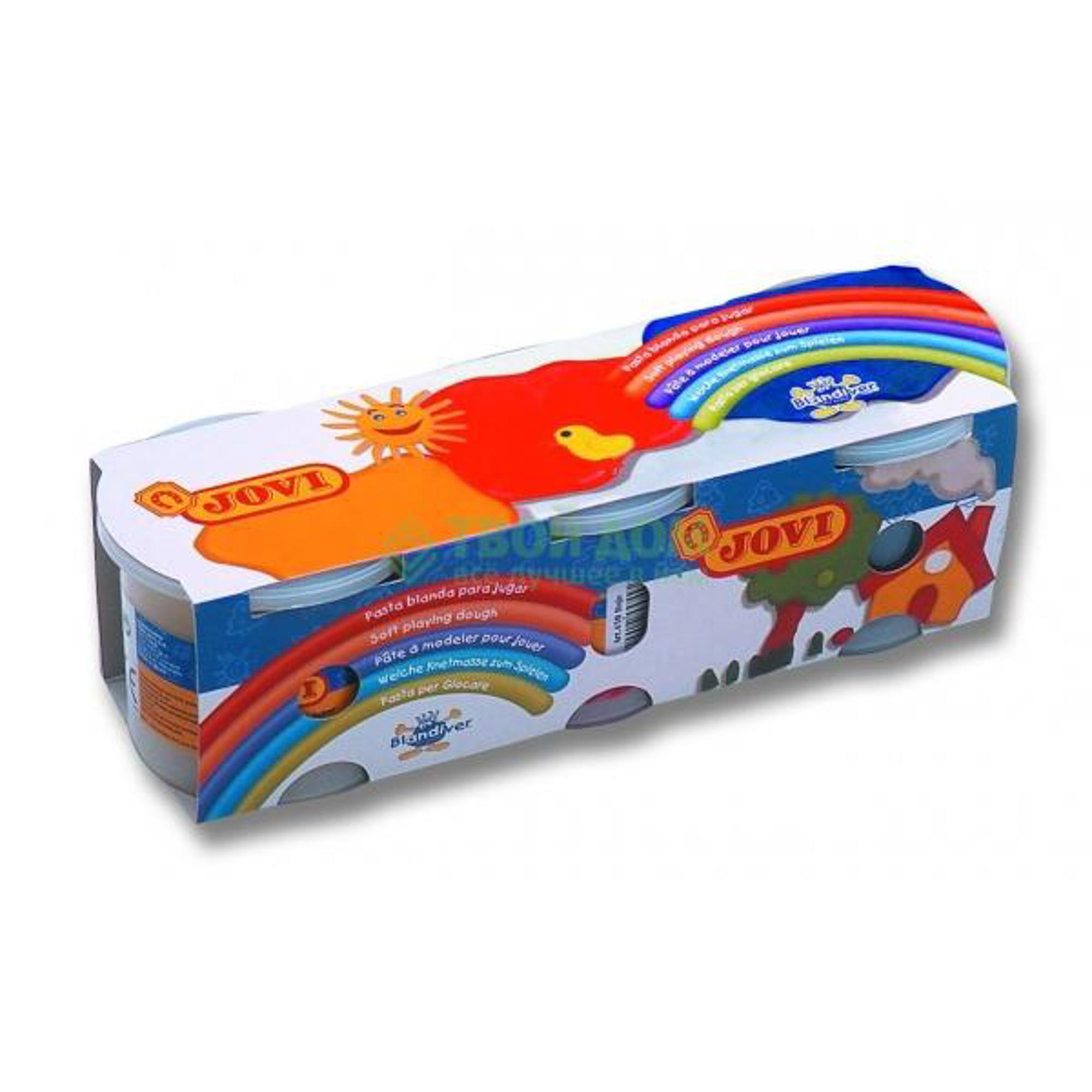 Набор для лепки Jovi Мягкая игровая паста для моделирования 3 цв по 125 гр (403)