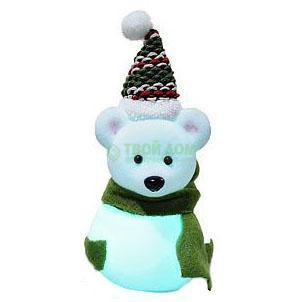 Фигурка Kaeming Мишка - Снеговик светящийся LED 10см (482645)