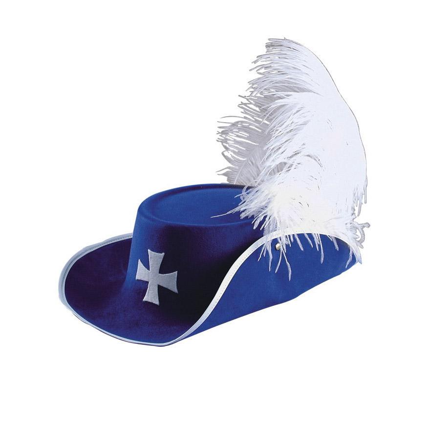 Шляпа Carnival Toys Д'Артаньян синяя