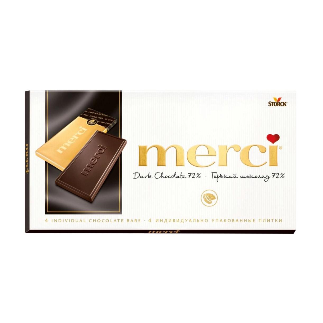 Фото - Шоколад Merci Горький 72% 100 г merci водолазки
