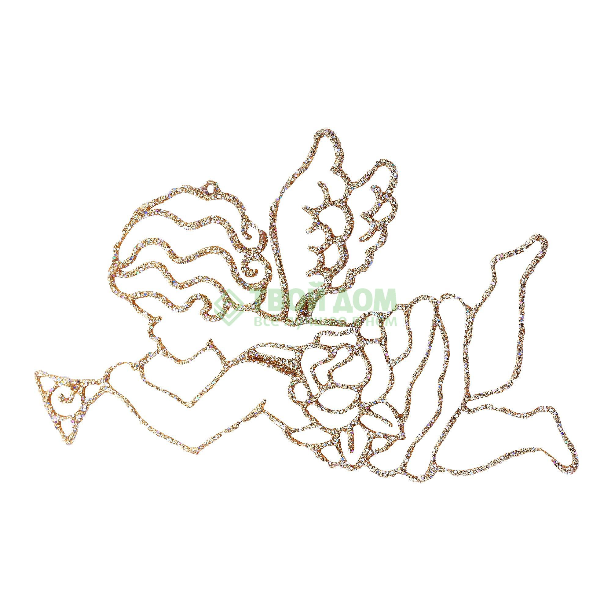 Фигурка Weiste Ангел 130мм золото (93902)