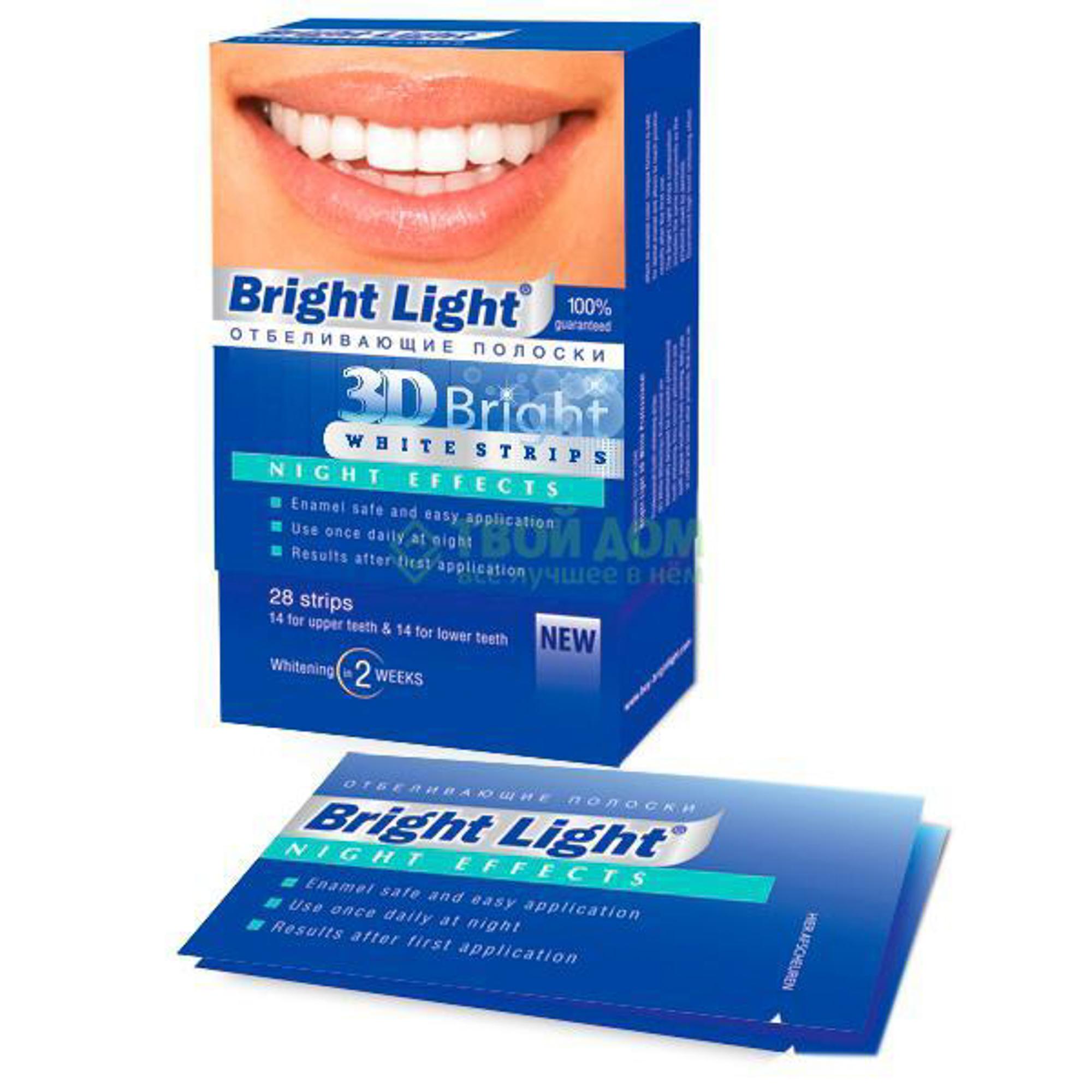 Полоски для отбеливания зубов Bright light дневные 28 шт (BL PRO)
