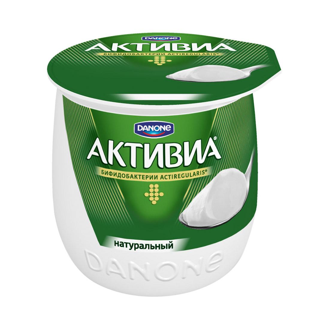 активиа биопродукт творожно йогуртный 4 5% 130 г Биойогурт термостатный Активиа натуральный 3,5% 170 г