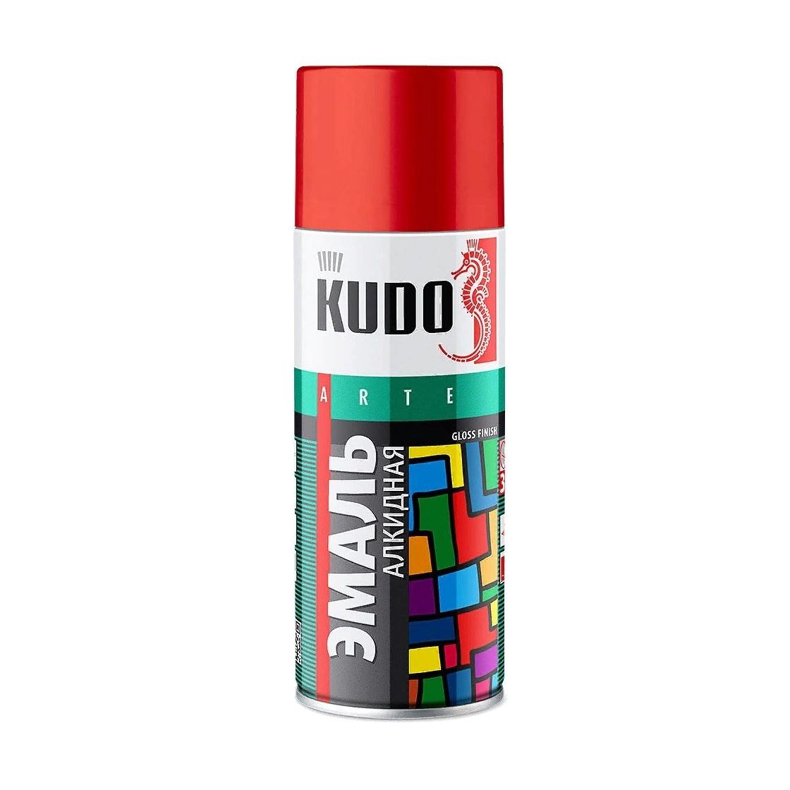Эмаль Kudo универсальная охра 520 мл эмаль аэрозольная kudo 1026 универсальная 520 мл серебро арт эк000013304