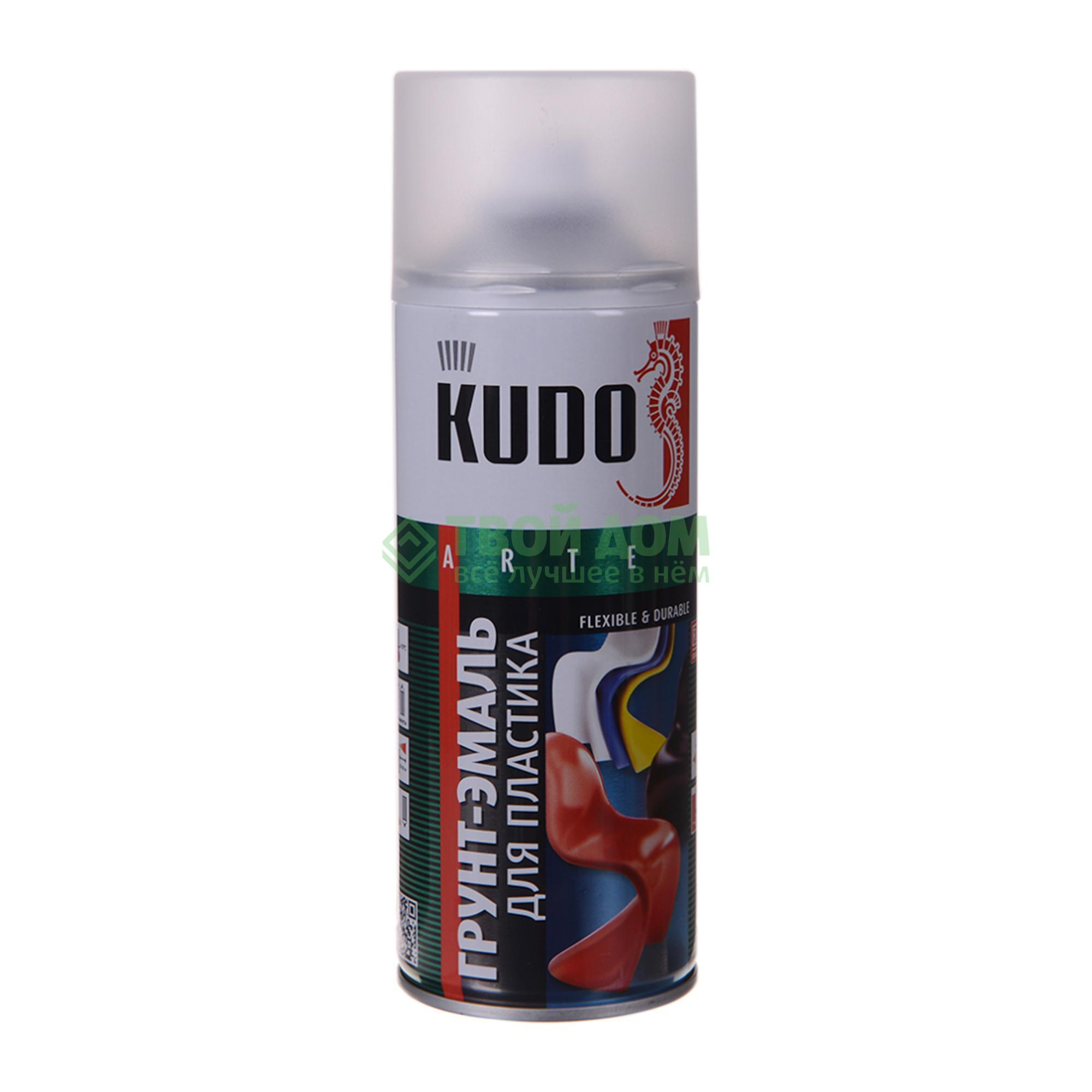 Эмаль Kudo Грунт  для пластика белая 520 мл