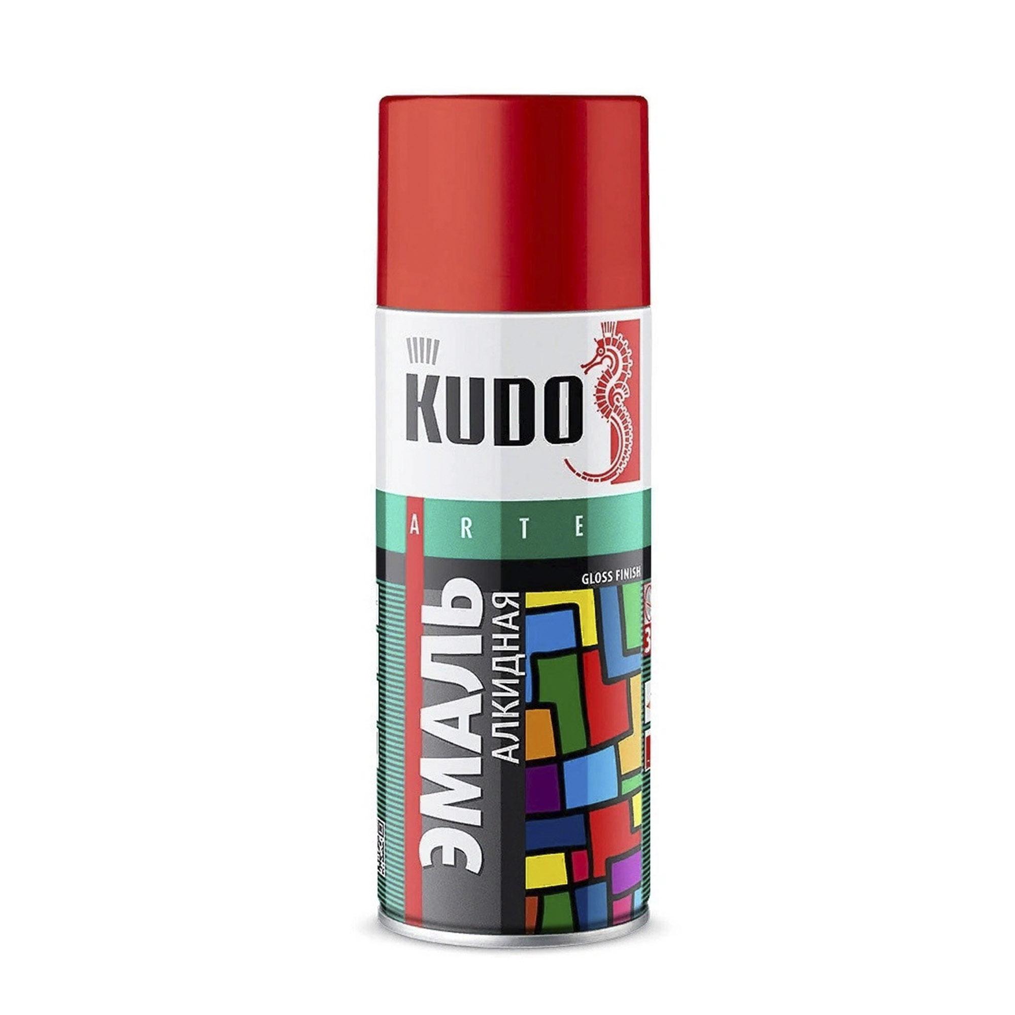 Эмаль Kudo универсальная оранжевая 520 мл эмаль аэрозольная kudo 1026 универсальная 520 мл серебро арт эк000013304