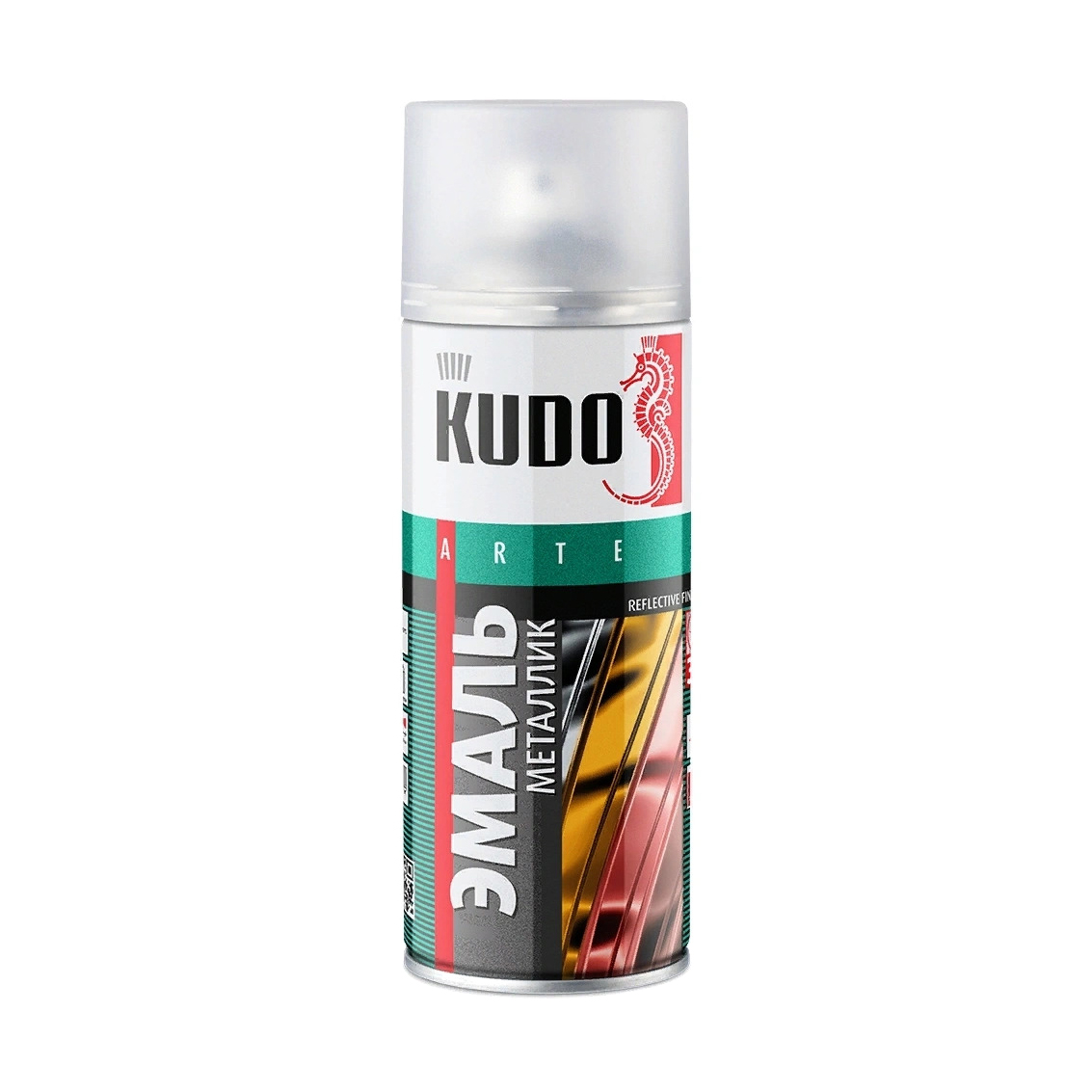 Эмаль Kudo металлик универсальная серебряная 520 мл эмаль аэрозольная kudo 1026 универсальная 520 мл серебро арт эк000013304