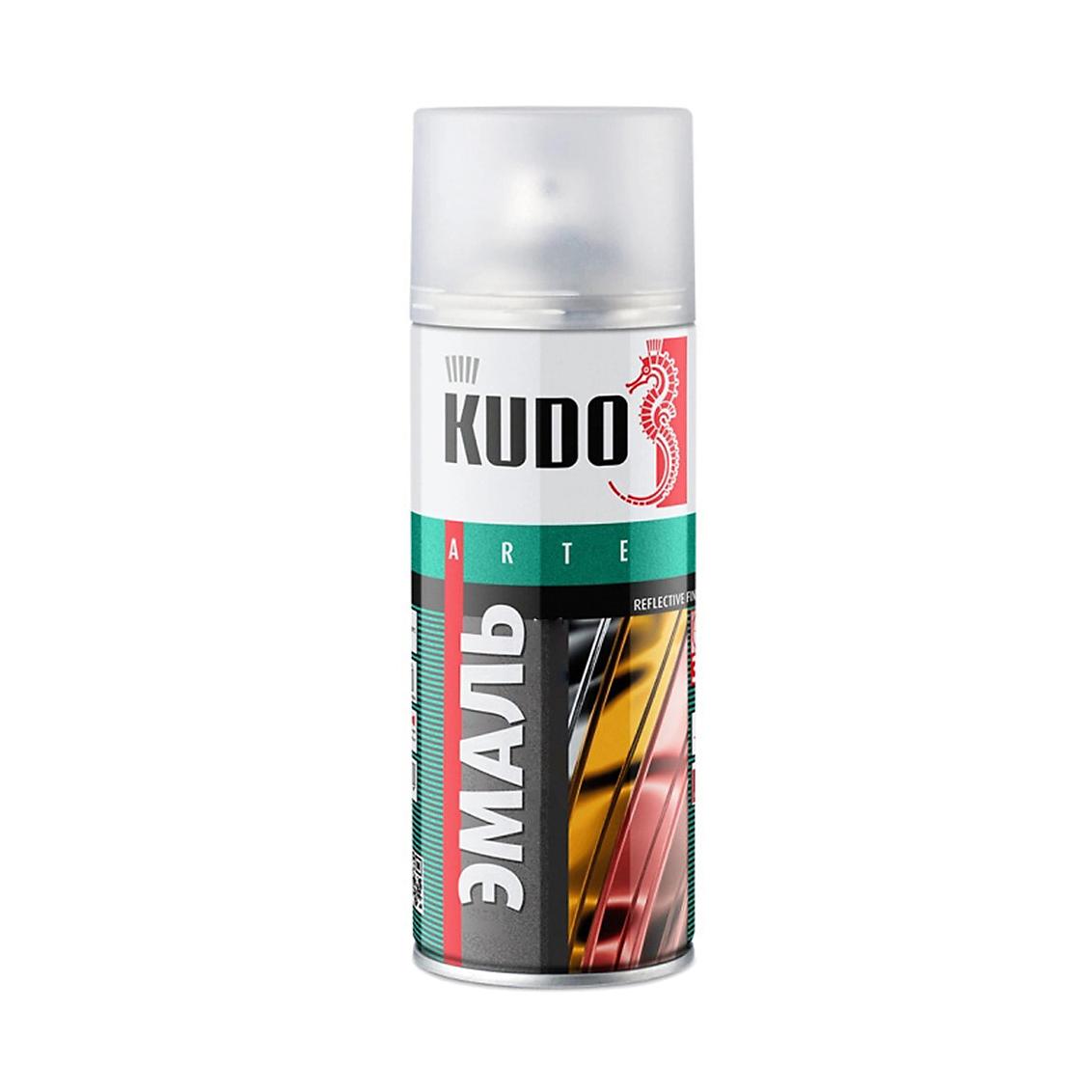Фото - Эмаль Kudo металлик термостойкая черная 520 мл эмаль kudo термостойкая