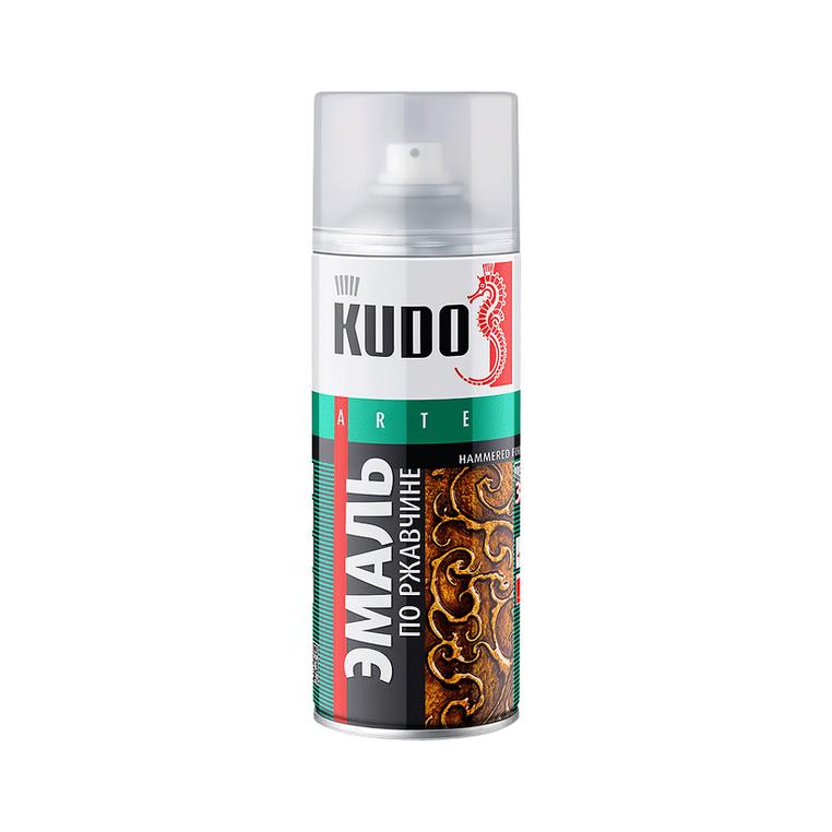 Фото - Эмаль Kudo по ржавчине молотковая серебристо-черная 520 мл эмаль kudo термостойкая