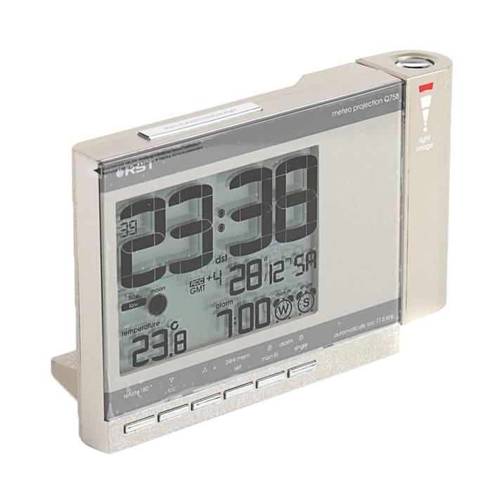 Цифровая метеостанция Rst Станция проекционная погодная 32758