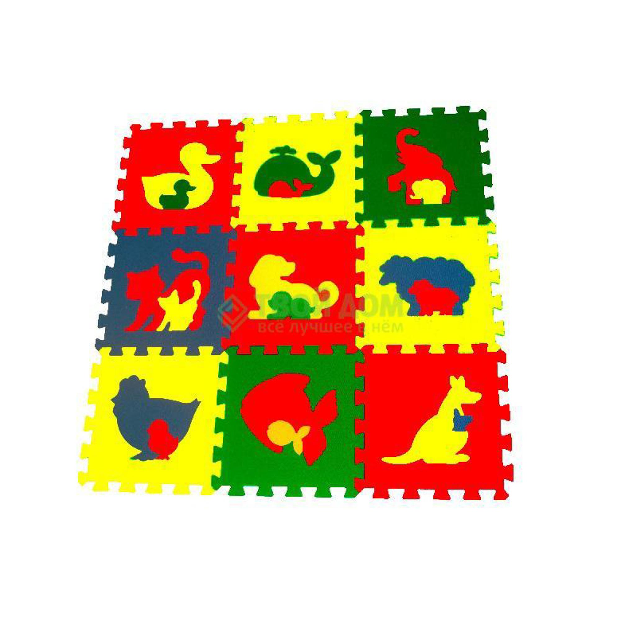 Пазл Мягкий пол Пазлы животные 33x33 098м2 (33МП1/Ж) фото
