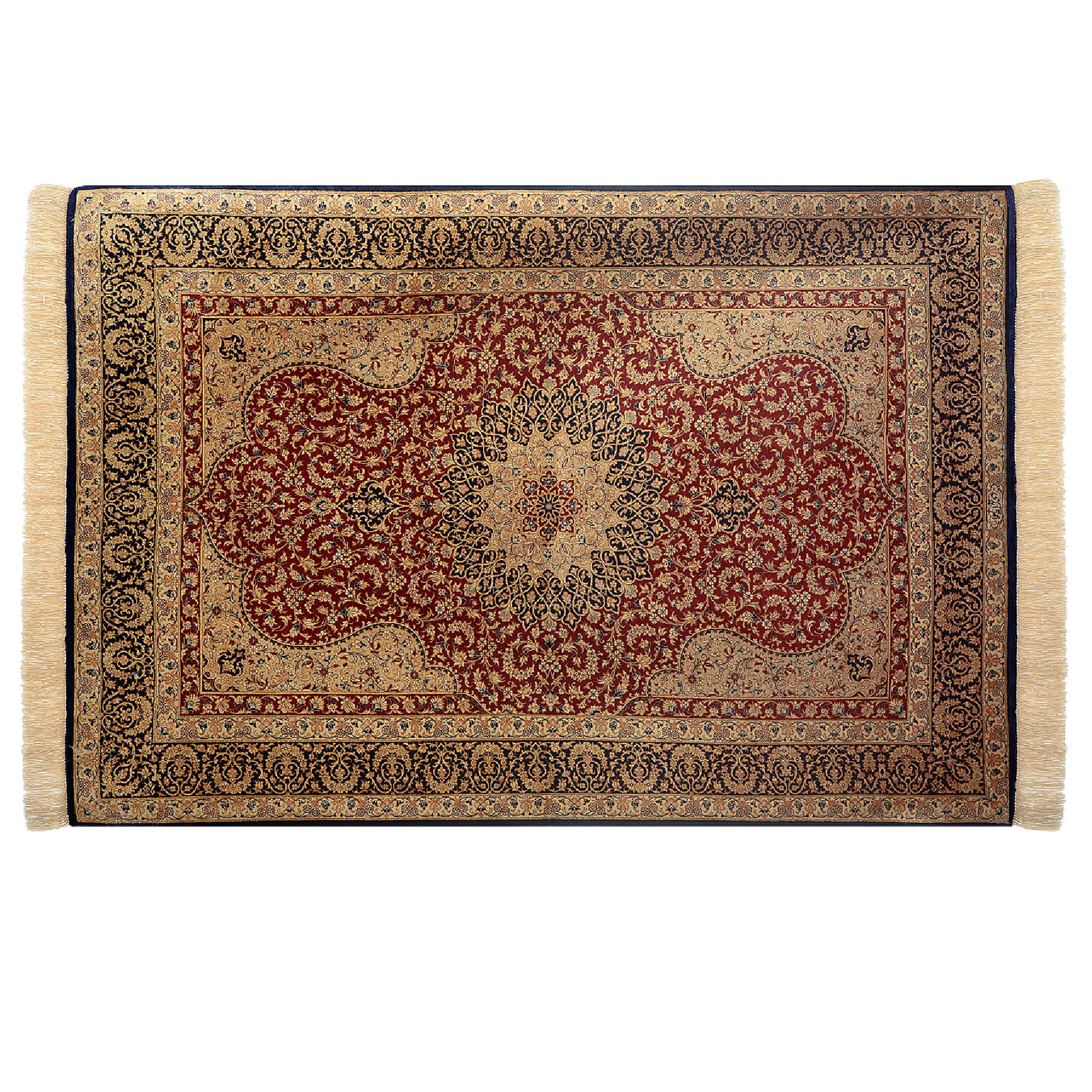 Фото - Ковёр 1.00х1.45 персиан кум Ковровые галереи ковёр 0 6х1 1 majestic hg8644anthracitea ковровые галереи