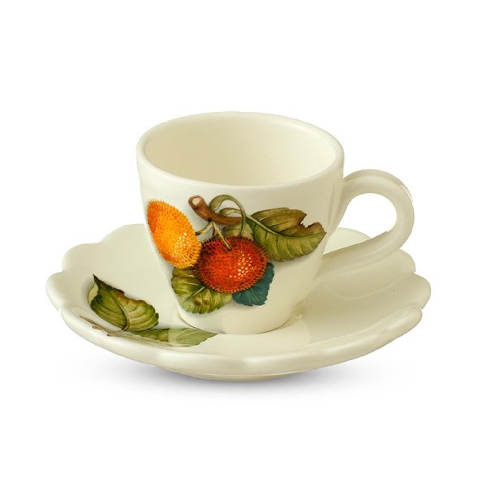 Чашка чайная с блюдцем итальянск фрукты Nuova cer s n c