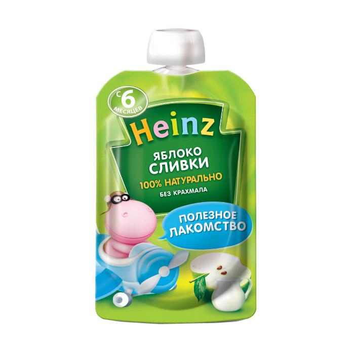 Пюре фруктово-молочное Heinz Яблоко и сливки 90 г.
