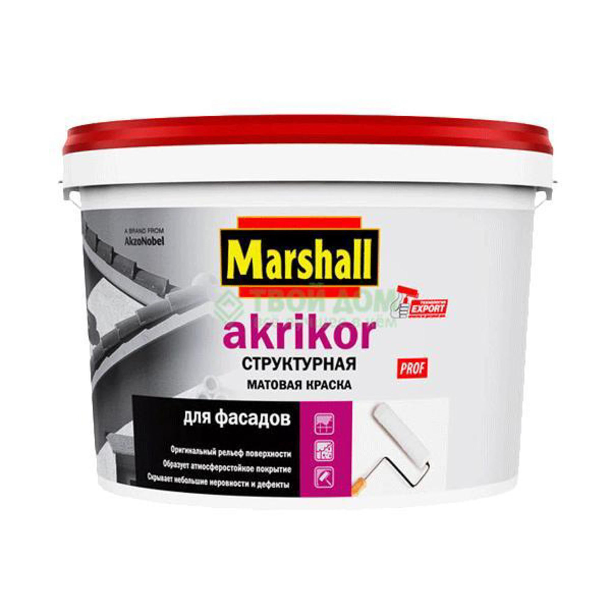 Краска Marshall Краска marshall akrikоr структ bw 10л