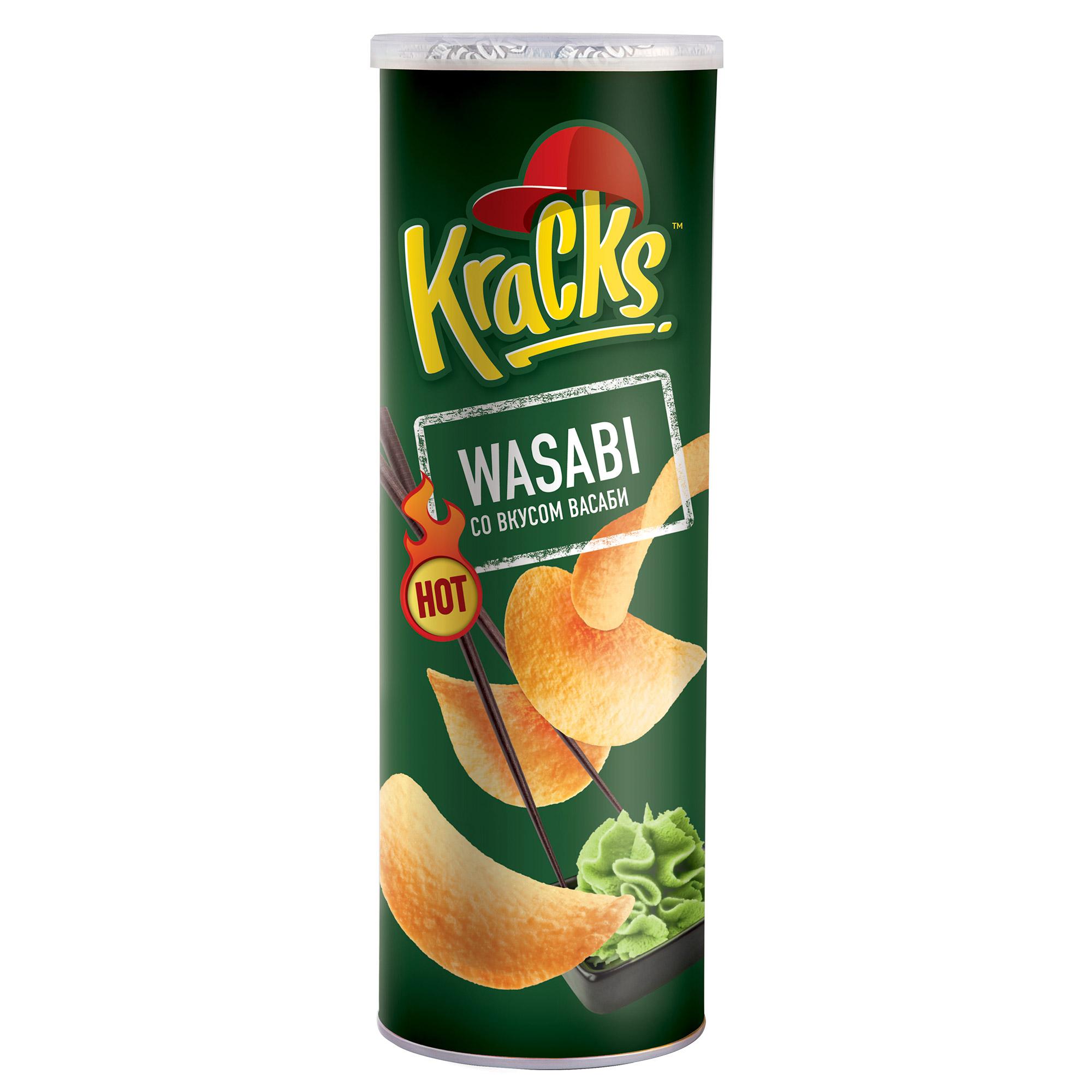 Чипсы Kracks картофельные со васаби 160 г
